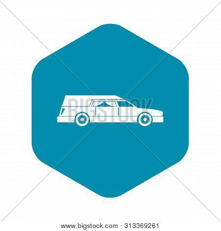 Hearse Icon. Simple Illustration Of Hearse Vector Icon For Web