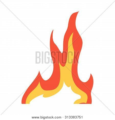 Vector Illustration Of Bonfire And Ignite Icon. Set Of Bonfire And Temperature Stock Symbol For Web.