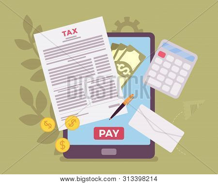 Online Tax Payment Vector & Photo (Free Trial) | Bigstock