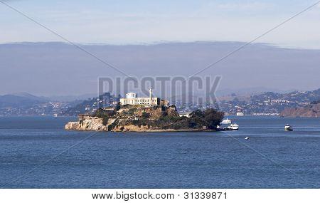 Alcatraz Island With Famous Prison