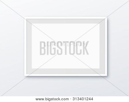 A3, A4 Vertical Blank Picture Frame For Photographs. Vector Realisitc Paper Or Plastic White Picture