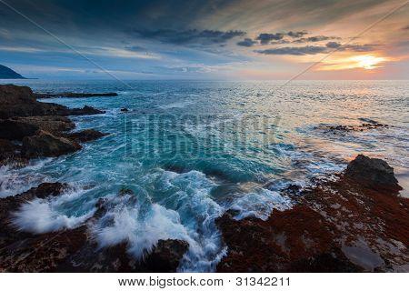 Hawaii Shore at Dusk