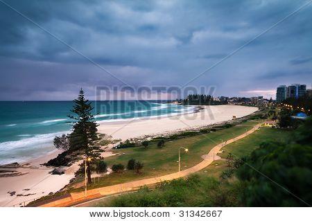 Coolangatta Beach At Dawn