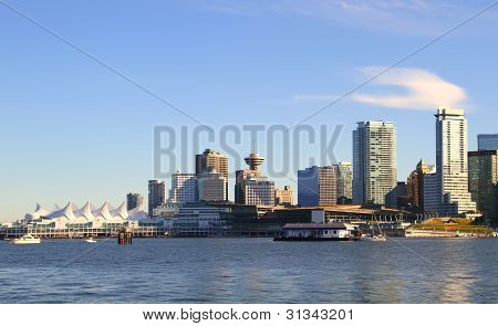 Vancouver Canada cityscape in the downtown . poster