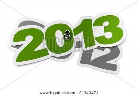 2013 two thousand thirteen green sticker