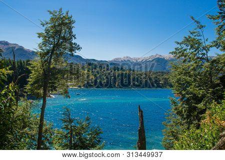 Lake Nahuel Huapi And Villa La Angostura Town, Argentina