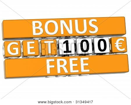 3D Get Free Bonus Cube Text