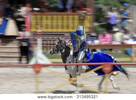 Larkspur, Colorado - July 21, 2019: Colorado Renaissance Festival. Modern Day Town Near Colorado Spr