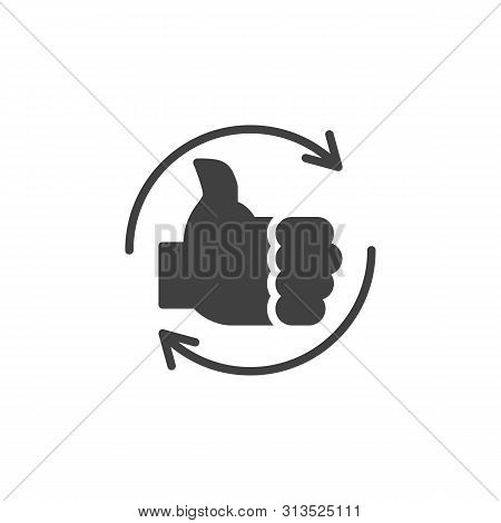 Like Repost Vector Icon. Positive Feedback Filled Flat Sign For Mobile Concept And Web Design. Thumb