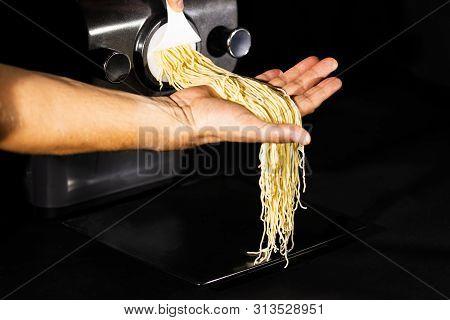 Home Made Spaghetti Pasta By Pasta Maker