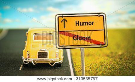 Street Sign To Humor Versus Gloom