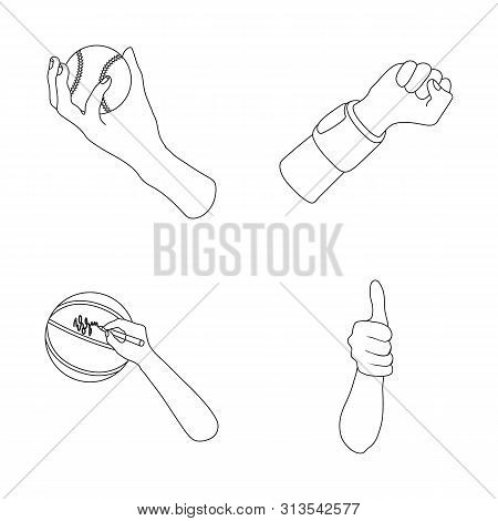 Bitmap Illustration Of Animated And Thumb Icon. Set Of Animated And Gesture Stock Bitmap Illustratio