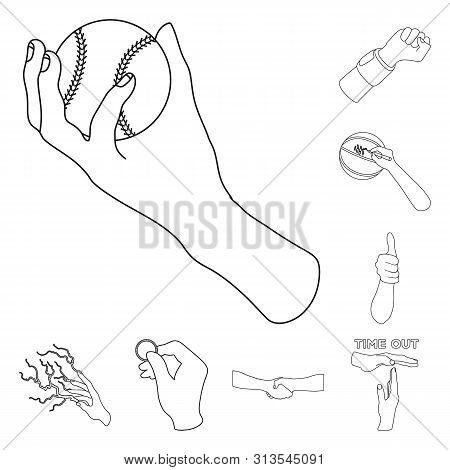 Bitmap Illustration Of Animated And Thumb Logo. Collection Of Animated And Gesture Stock Bitmap Illu