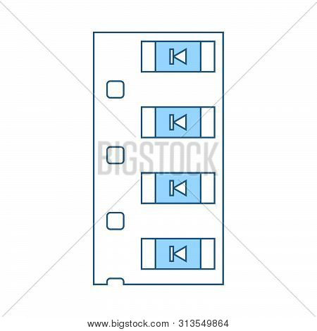 Diode Smd Component Tape Icon. Thin Line With Blue Fill Design. Vector Illustration.