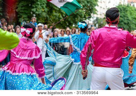Mexico Greeting International Folklore Festival At Sofia Bulgaria