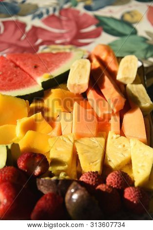 Breakfast On Our Australian Daintree Holiday Included This Delectable Selection Of Colorful Fruits A