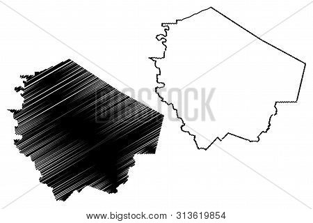 Fort Bend County, Texas (counties In Texas, United States Of America,usa, U.s., Us) Map Vector Illus