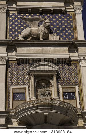 The Astronomical Clock Of St Marks Clocktower Venice