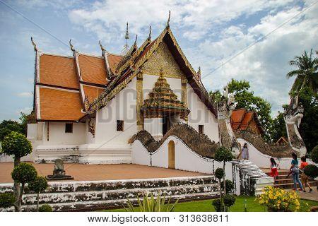 Nan,thailand - July 19,2016  :   Wat Phumin Temple,nan,thailand