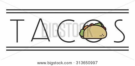 Taco Simple Minimal Sign For Restaurants, Mexican Food
