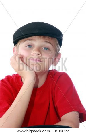 Boy In Black Cap