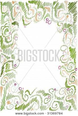 floral hand-drawn frame