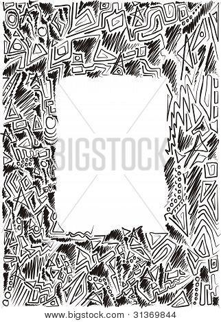 doodle hand-drawn frame