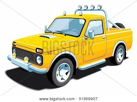 Yellow off-road vehicle (my design)