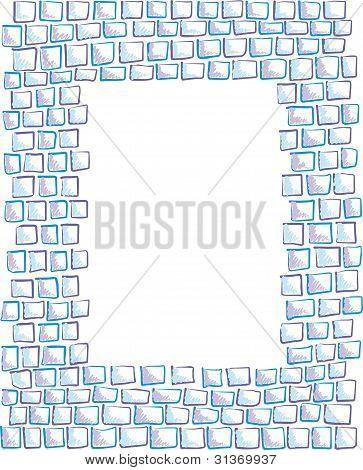 hand-drawn mosaic frame
