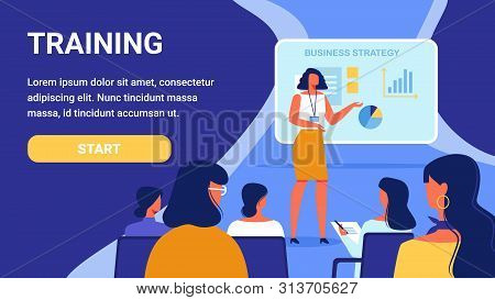 Training For Woman. Course Business Strategy. Advertising Image. Presentation New Woman Training. Tr