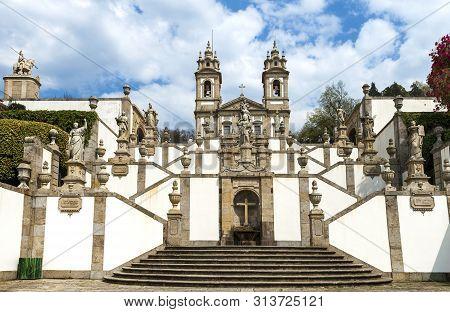 Tenoes, Portugal - April 2018:  Bom Jesus Do Monte Cathedral