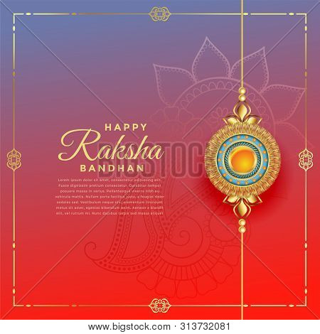 Lovely Rakshabandhan Festival With Rakhi Decoration Vector Illustration