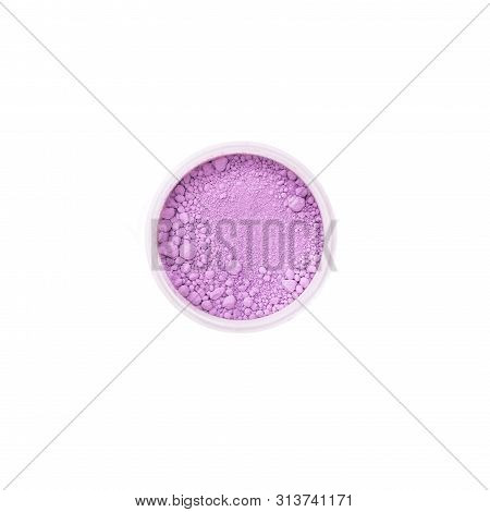 Colorful Mineral Pigment Powders In White Background. Polymeric Dye. Colorant For Plastics, Cosmetic