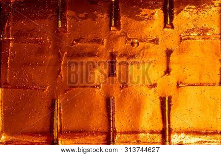 An Unbearably Hot And Oppressive Orange Abstract Background