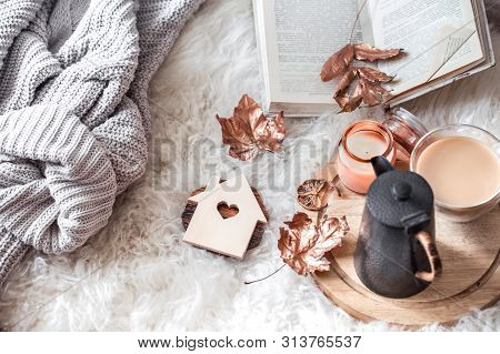 Cozy Autumn And Winter Comfortable Home Life.