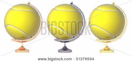 Abstract Tennis Ball Globe