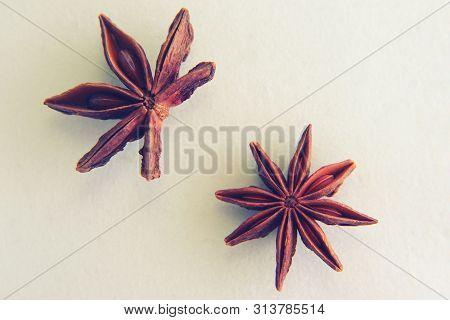 Star Anise (lat. Illicium Verum). Spice Badyan.