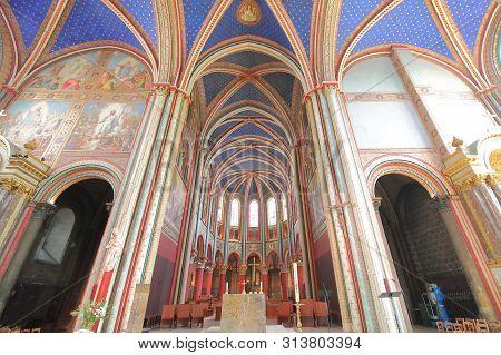 Paris France - May 22, 2019: Saint Germain Des Pres Church Paris France
