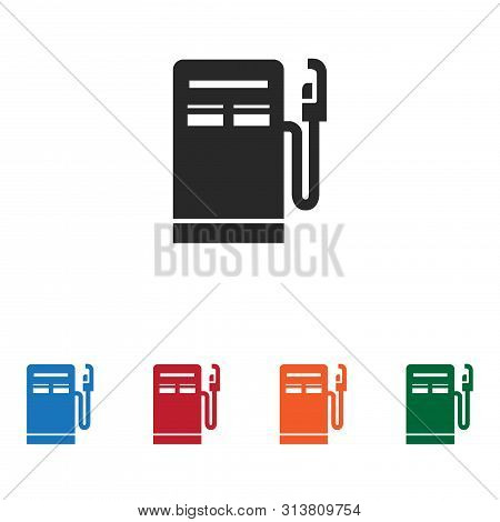 Gas Station Icon Isolated On White Background. Gas Station Icon In Trendy Design Style. Gas Station