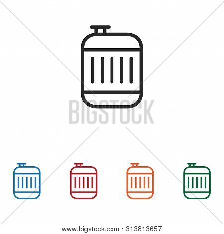 Jerrycan Icon Isolated On White Background. Jerrycan Icon In Trendy Design Style. Jerrycan Vector Ic