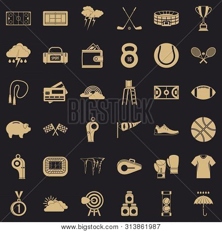 Tennis icons set. Simple style of 36 tennis icons for web for any design poster