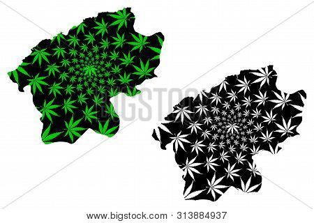 Bartin (provinces Of The Republic Of Turkey) Map Is Designed Cannabis Leaf Green And Black, Bartin I