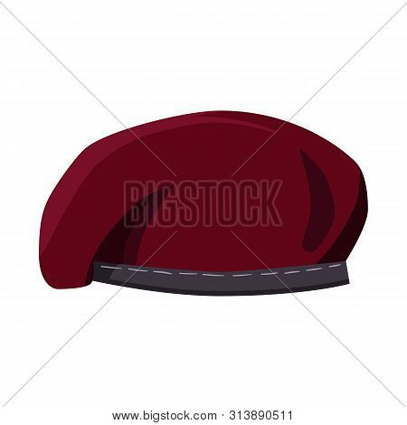 Isolated Object Of Hats And Commando Symbol. Collection Of Hats And Clothes Stock Vector Illustratio