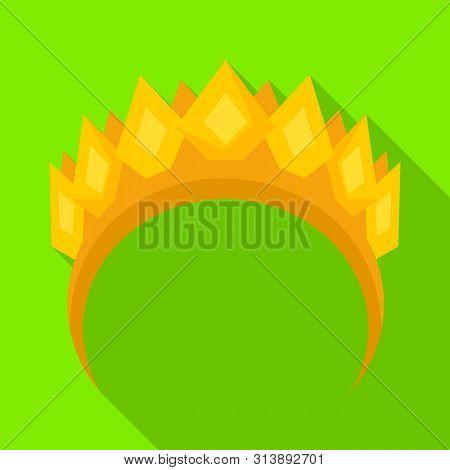 Vector Illustration Of Diadem And Laurel Symbol. Collection Of Diadem And Wreath Stock Vector Illust