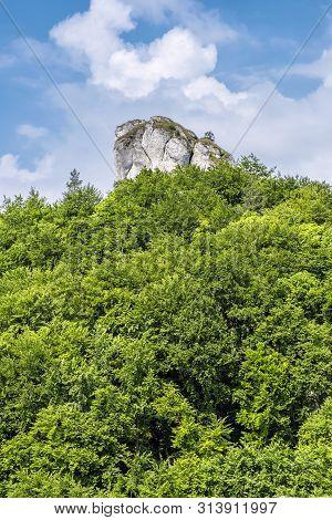 Brada Hill Sulov Rocks, Slovak Republic. Seasonal Natural Scene. Hiking Theme.