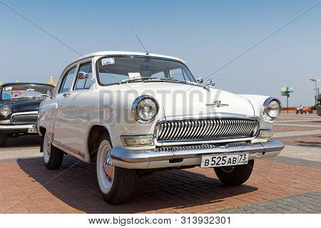 Ulyanovsk, Russia - July 27, 2019: Vintage Retro Car Volga Gaz-21 At The