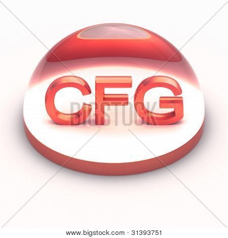 3D Style file format icon over white background - CFG poster
