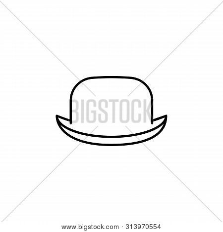 Hats Bowler Hat Line Icon. Element Of Hats Icon