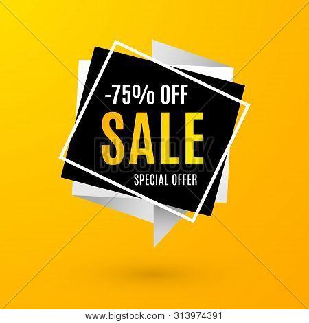 Super Sale Layout. Best Price Shape Badge, Discount Season Special Offer. Vector Illustration Promot