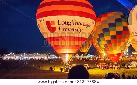 Bristol, Uk - August 13, 2016: The Bristol International Balloon Fiesta 2016, Showing The Mass Ascen